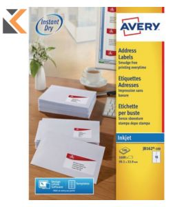 Avery J8162-100 Labels, 16 Labels Per Sheet - [99.1 x 33.9 mm]