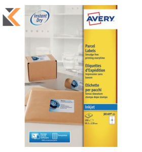 Avery J8169-25 Labels, 4 Labels Per Sheet, 100 Labels Per Pack - [99.1 x 139 mm]
