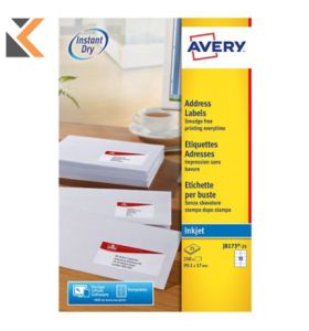 Avery J8173-25 Labels,10 Labels Per Sheet, 250 Labels Per Pack - [99.1 x 57 mm]