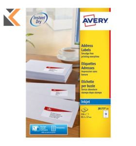 Avery J8173-25 Labels, 250 Labels Per Pack, 99.1 x 57 mm - [10 Labels Per Sheet]