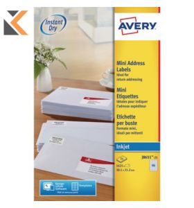 Avery J8651-25 Labels, 65 Labels Per Sheet, 1625 Labels Per Pack - [38.1 x 21.2 mm]