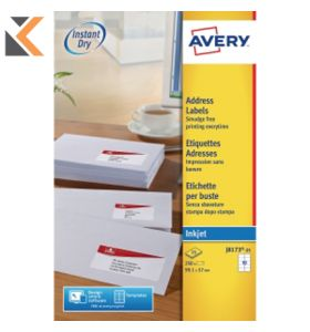 Avery J8658-25 Mini Labels , 189 Labels Per Sheet - [25.4 x 10 mm]