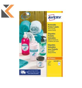 Avery L4851REV-25 Removable Round Labels, Ø37mm - [24 Labels Per Sheet]