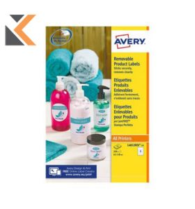 Avery L4852REV-25 Removable Round Labels, Ø63.5mm - [8 Labels Per Sheet]