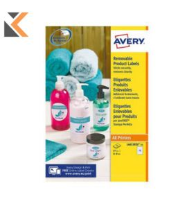 Avery L4853REV-25 Removable Round Labels, Ø51mm - [15 Labels Per Sheet]