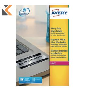 Avery L6008-20 Resistant Labels, 189, Labels Per Sheet - [25.4 x 10 mm]