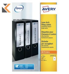 Avery L7171-100 Filing labels, 200 x 60 mm - [4 Labels Per Sheet]