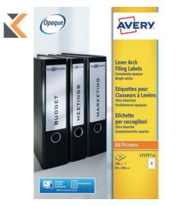 Avery L7171-100 Filing labels, 4 Labels Per Sheet - [200 x 60 mm]