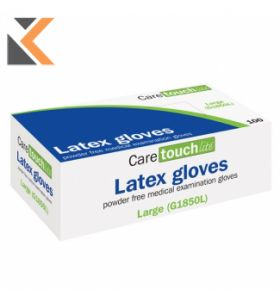 Caretouch Lite Powder Free Latex Gloves G1850L Large - (Pack Of 100)