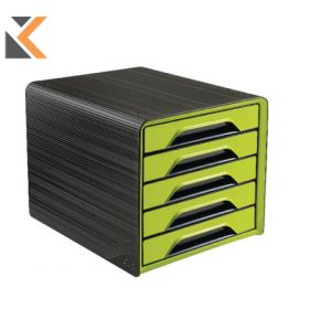 Cep Smoove - [5-Drawers Unit] Black/Green