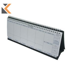 COLLINS WIROBOUND DESK CALENDAR BLACK WEEK TO VIEW - [115 X 300MM]