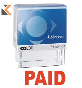 Colop Paid Self-Inking Stamp - [P20Mb]