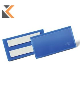 Durable Adhesive Document Pouch 100X38mm Blue - [Pack of 50]