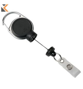 Durable Badge Reel Black Extra Strong