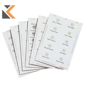 Durable Badgemaker Inserts 54X90mm - [Pack of 200] Inserts