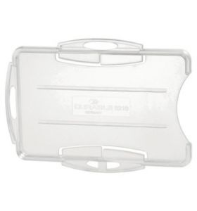 Durable Dual Security Pass Holder Transparent Pack of 10 - [54X85mm]