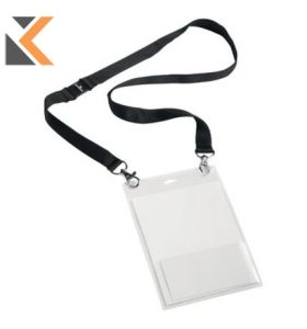 Durable Event Name Badge A6 w/Lanyard Blk - [Pack of 10]