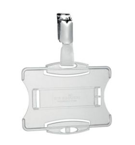 Durable Security Pass Holder With Clip 54X85mm Transparent - [Pack of 25]