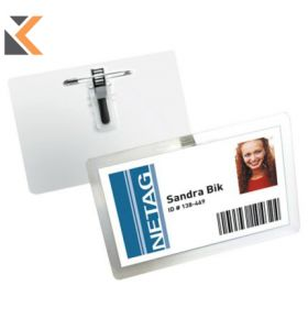 Durable Self-Laminating Badge With Combi Clip Pack of 25 Transparent - [54X90mm]