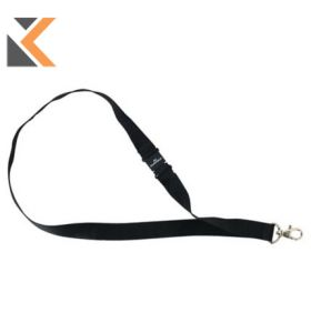 Durable Textile Lanyard Black With Safety Release - [Pack of 10]