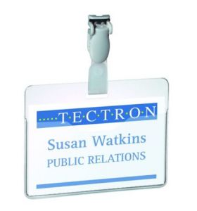 Durable Visitor Badge With Clip 60X90mm Transparent - [Pack of 25]