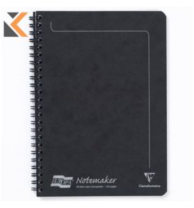 Europa Wire Bound On Side Notemaker, A5, Lined [120 Pages] - Black