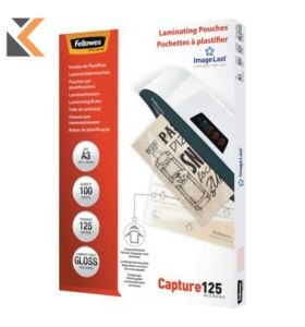Fellowes-A3 Laminating Pouches Gloss 250 Microns [2 X 125] - Pack of 100
