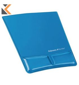 Fellowes 91822 Mouse Pad Wrist SuPPort With Microban Crystal Blue Gel