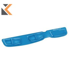 Fellowes 91831 Keyboard Wrist Rest With Microban Crystal Blue Gel