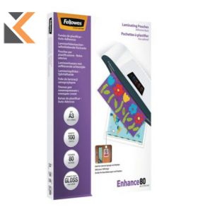 Fellowes Laminating Pouches Adhesive 80Mix2 - A3 - [Box of 100]