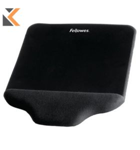 Fellowes Plush Touch Mouse Pad Wrist SuPPort - [Black]