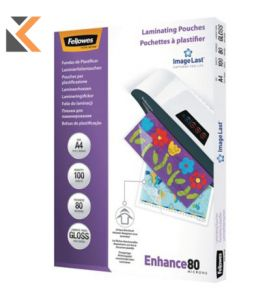 Fellowes Self-Adhesive Laminating Pouch A4 - Box of 100 - [2X80Mi]