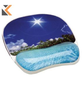 Fellowes Tropical Beach Photo Mouse Pad SuPPort Wrist