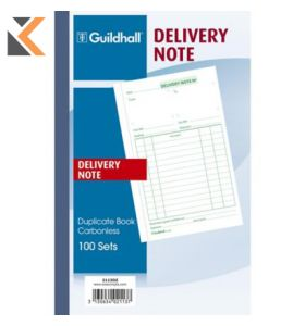 Guildhall Duplicate Delivery Note Book, 100 Sets, Cloth Tape Binding - [210X135mm]