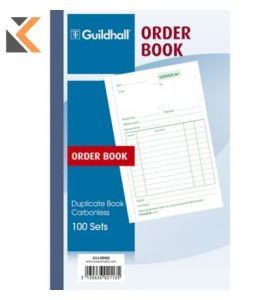 Guildhall Duplicate Order Book, 100 Sets, Cloth Tape Binding - [210X135mm]