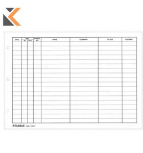 Guildhall Visitor Book Refill Pages, Pre-Printed, 50 Sheets - [21X29.7cm]