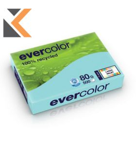 Evercolour-Recycled Blue Paper A4 80 Gsm  - [1 Ream Of 500 Sheets]