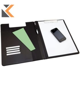Monolith A4 Black Conference Folder With Clipboard