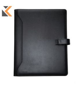 Monolith Conf Folder Leather A4 Blk - [2900]