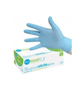 Nutouch 1.5 Blue Nitrile Powder Free Exam Gloves Medium (Pack of 200)