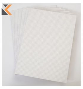 Office White A4 Memo Pads (Quadrille) - Pack of 6 [6 X 80 Sheets]