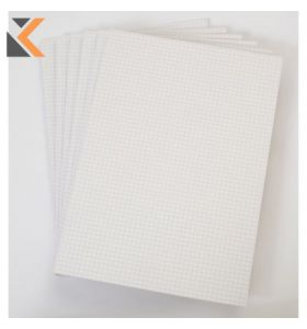 Office White A4 Memo Pads (Quadrille) - 6 X 80 Sheets [Pack of 6]