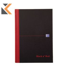 Oxford Blk n' Red A5 Hardback Notebook Casebound Ruled with A-Z Index  [192 P] Blk