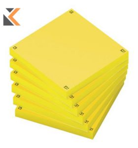 Oxford Spot Notes 75x75mm Yellow - [Pack Of 6]