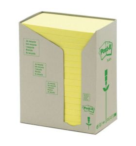 Post-It Recycled Notes Tower of 16 Pads Yellow [76X127mm]