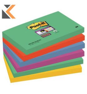 Post-It Super Sticky Notes Marrakesh Colour Pk6 - [76X127mm]