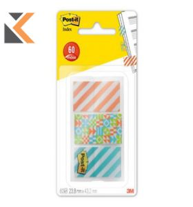 Post It 682-GEO3 Index Tabs Geo - [Pack of 3]