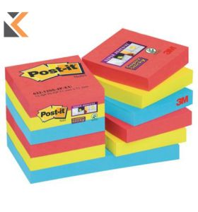 Post It Super Sticky Bora Bora Notes 48X48mm  - [Pack of 12]