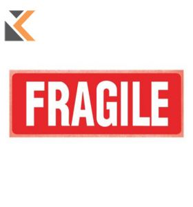Printed Labels Fragile Pk250 - [150X100mm]