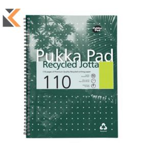 Pukka A4 White Recycled Wirebound Pads (Ruled/Margin) - Pack of 5 [5X55 Sheets]